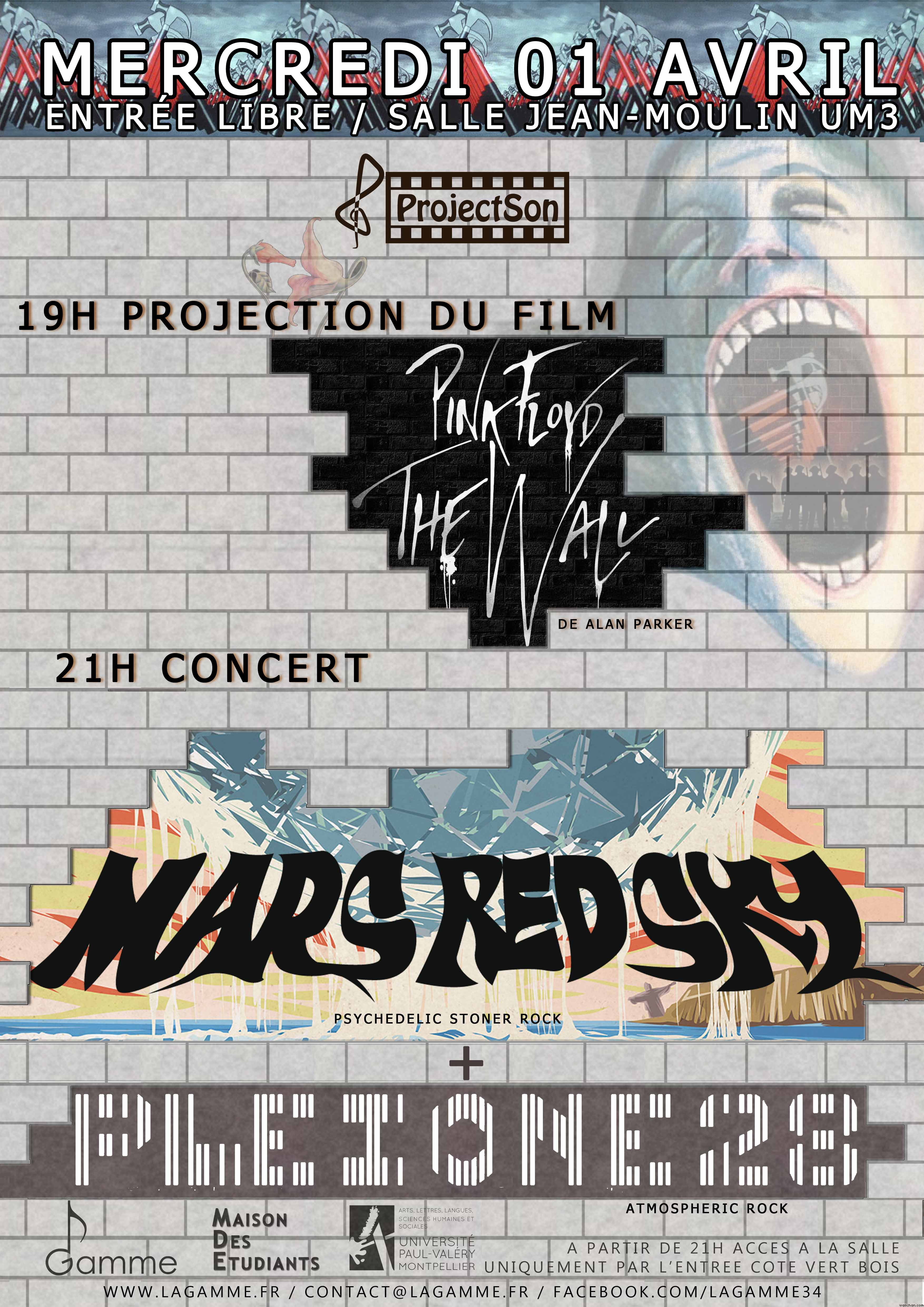 ProjectSon XVI - Projection Pink Floyd The Wall  Concert MARS RED SKY et PLEIONE 28