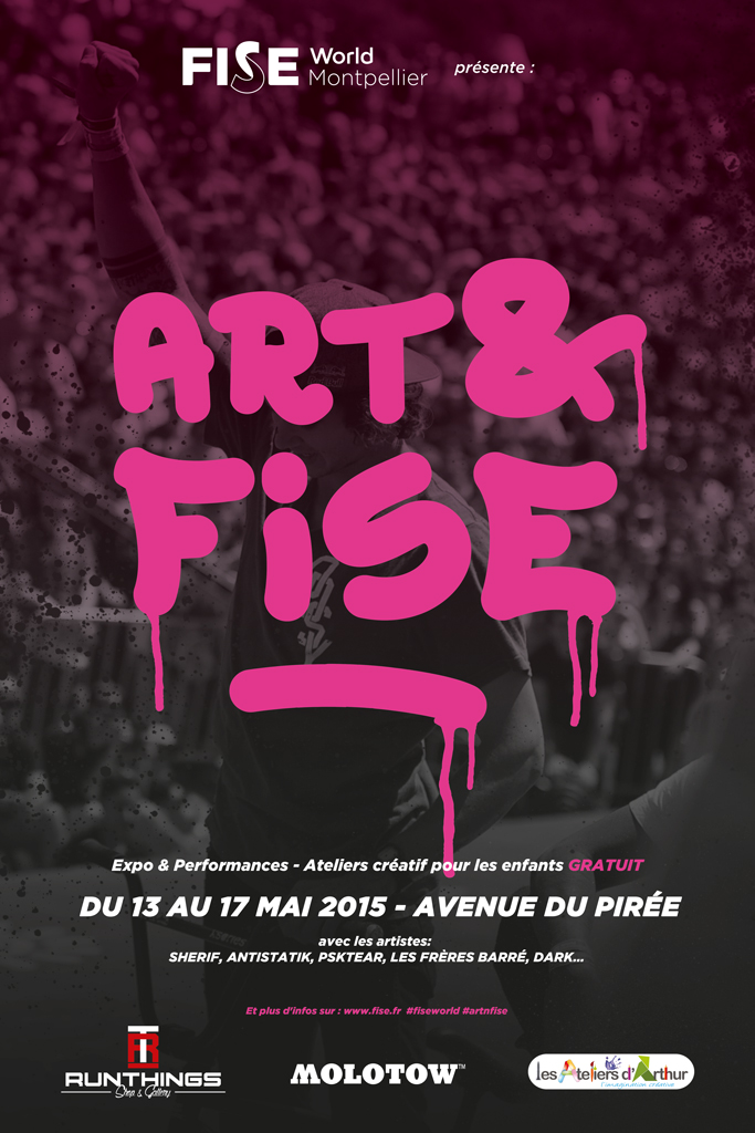 Art & Fise 2015 - Street art - graffiti - Festival International de Sport Extreme Montpellier