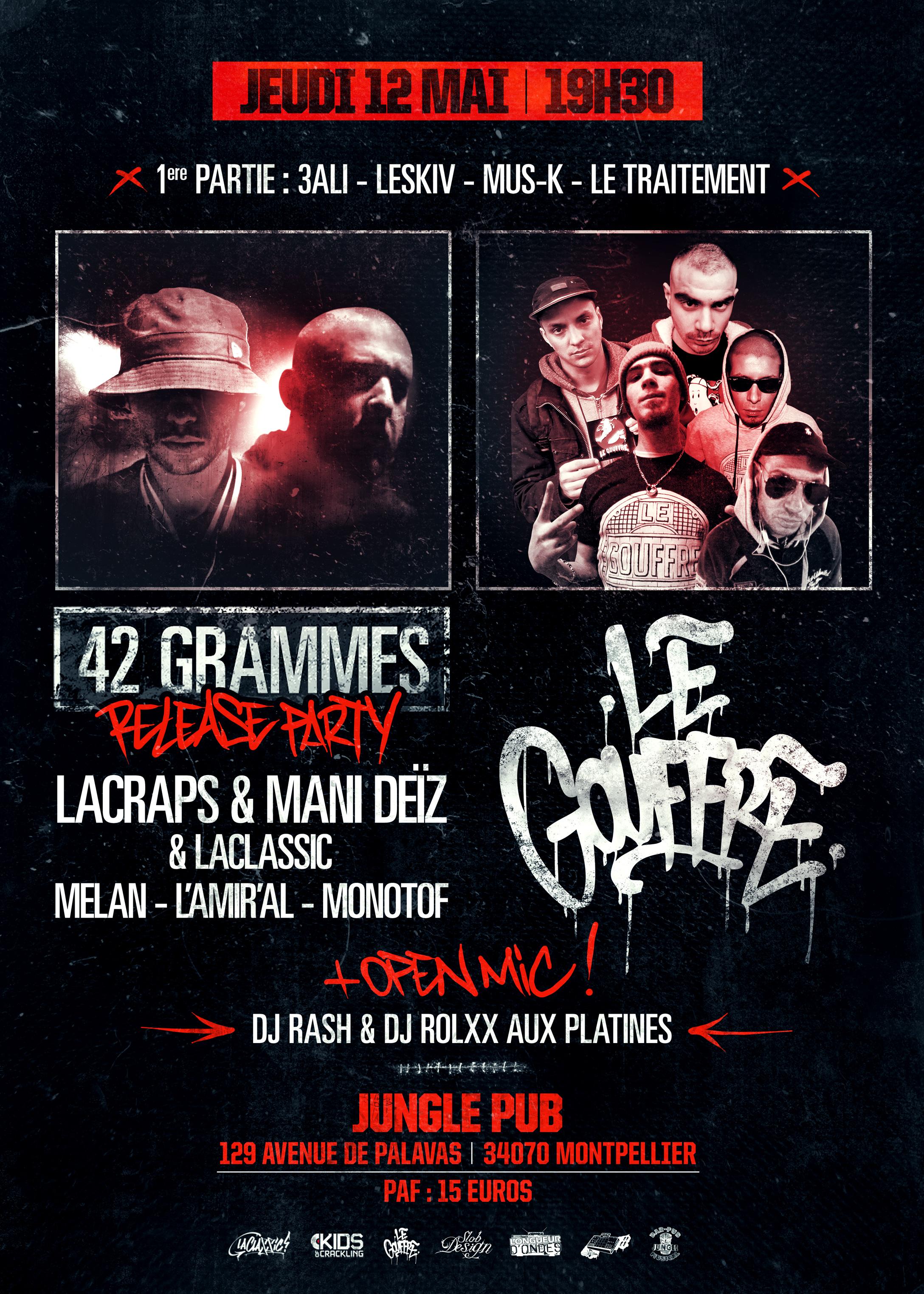 Concert INÉDIT – LE GOUFFRE à Montpellier