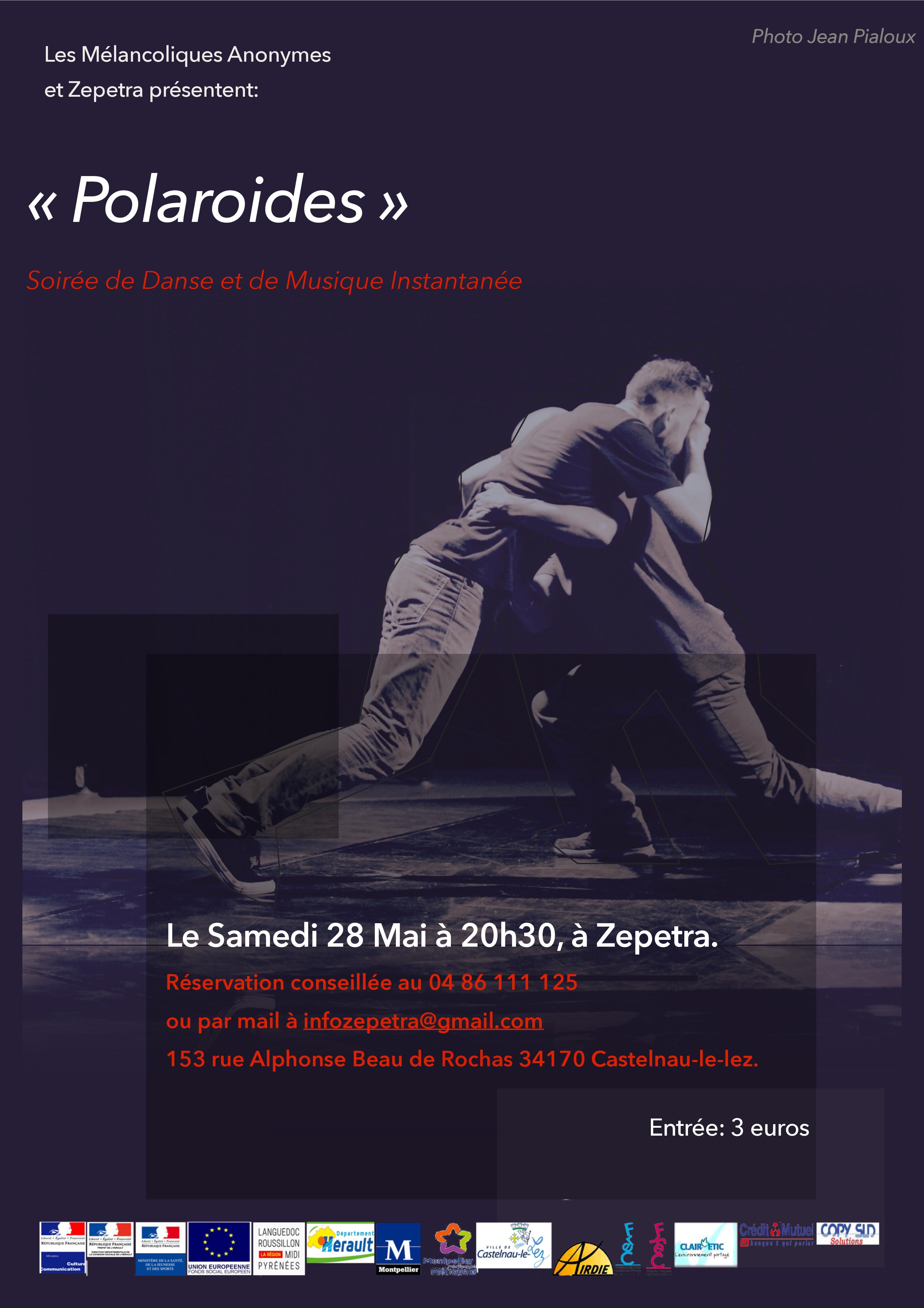 Polaroïdes: Soirée de danse et de musique instantanée par les Mélancoliques Anonymes à Zépetra